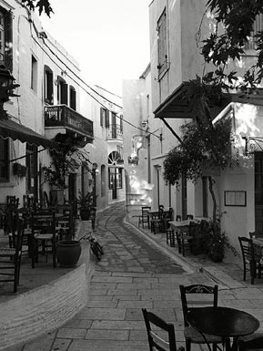 Narrow street in Tinos