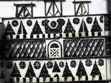 Detail of a dovecote