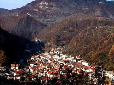 Panorama of the Kresevo historic core