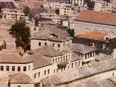 Part of the City which is not restored