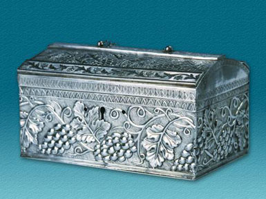 Silver filegree box
