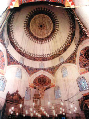 The mosque interior before its destruction