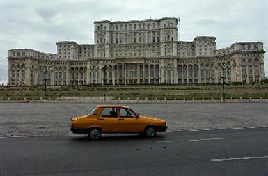 Bucharest - Palace of Parliament (with Dacia)