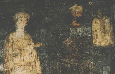 Frescoes from the church