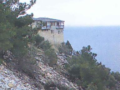 View of the Monastery and the Sea