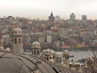 View towards Galata from Suleymaniye Mosque