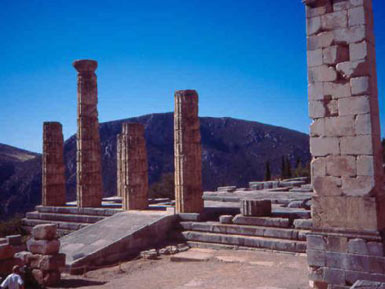 Columns of the temple of Apollo