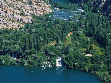National Park Krka, Rosni Waterfalls